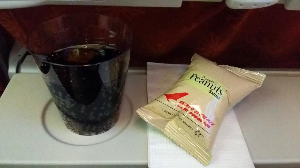 エア・インディアの機内サービスで出されたおやつ