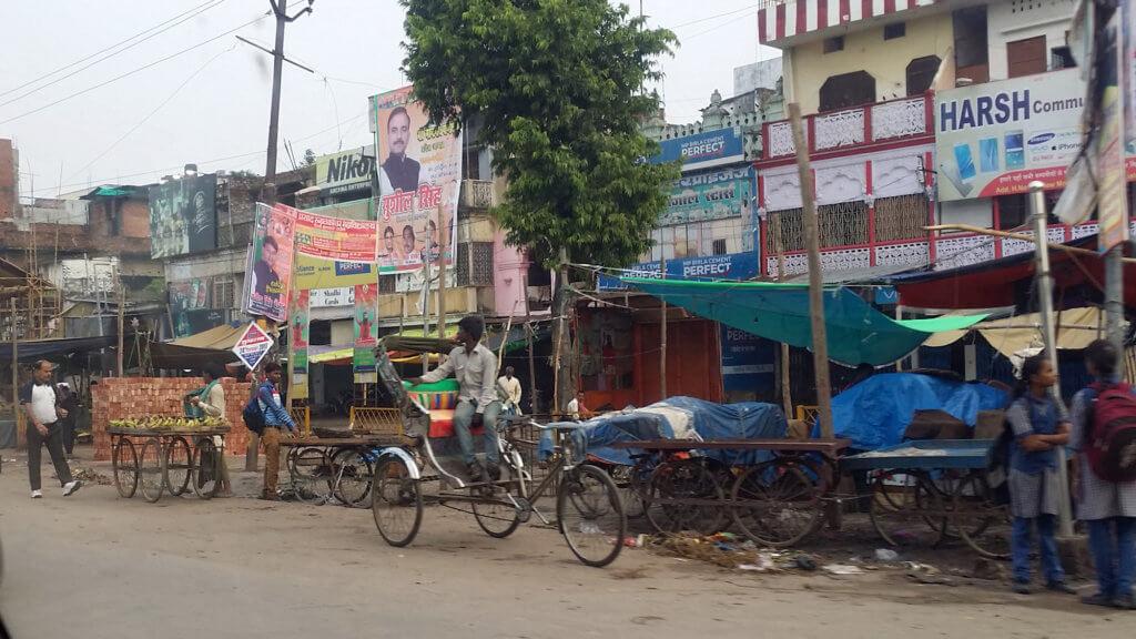 ムガール・サライ駅からヴァーラーナシーまでの道中の風景